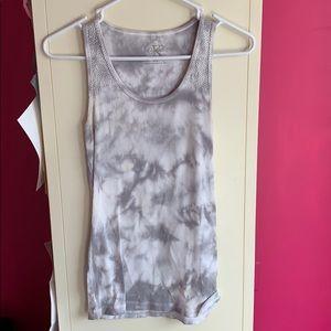 Gray/White Tye dye tank